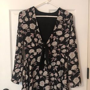 Luca Black Floral Dress